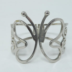 Jewelry - Chunky Butterfly Clamper Hinged Bangle Bracelet